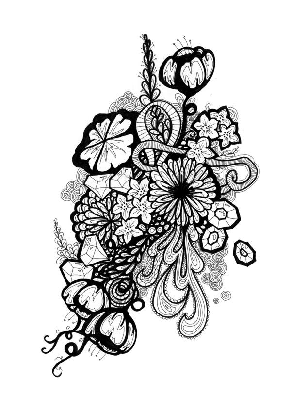 sharpie drawings of flowers wwwimgkidcom the image